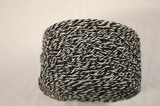 100g balls 86% Wool 14% Nylon - 4ply Knitting Yarn - Black and White Twist