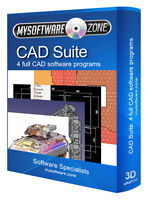 COMPUTER AIDED DESIGN CAD BUNDLE - 4 PROGRAMS SOFTWARE PC PLATFORM 2D 3D CSG NEW