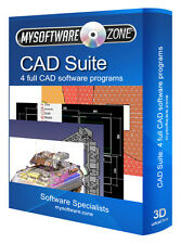 CAD Suite - 4 Software Programs 2D 3D Architect Auto Engineering Product Design