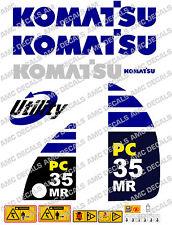 Komatsu Pc35mr Digger Autocollants Décalc