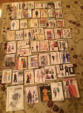 Large Lot of 51 Vintage Sewing Patterns Vogue Butterick Simplicity Women Clothes