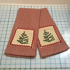 Set of 2 The Natural Fiber Resource INDIA OVERSEAS ChristmasTree  Kitchen Towel
