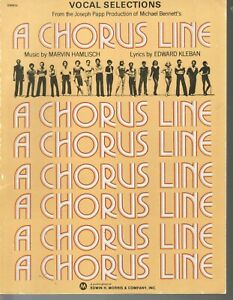 Chorus Line 1975 Vocal Selections Sheet Music