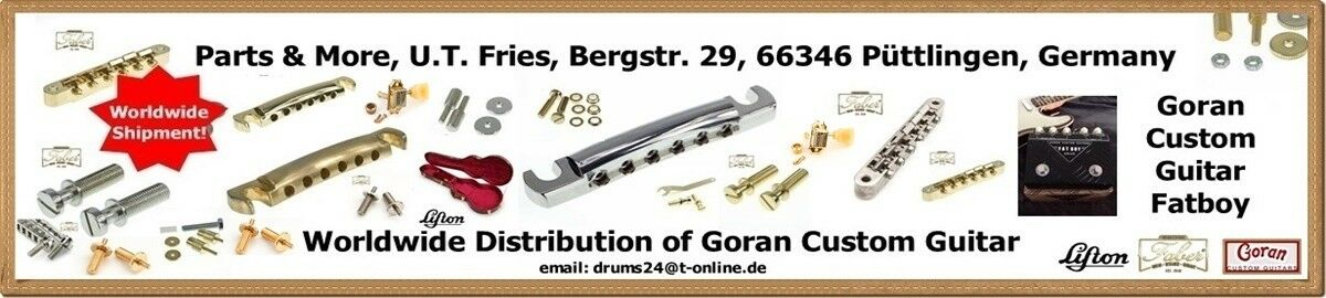 Faber Wraptonate WRAPT-NG Intonable Stoptail Bridge Studs ! Nickel Gloss incl