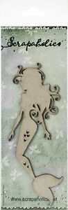 "Scrapaholics Laser Cut Chipboard 1.8mm Thick-Floating Mermaid, 6""X2.6"""