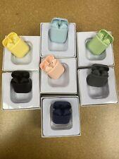 Colorful wireless earbuds (Dark Blue/Navy) bluetooth 5.0 waterproof