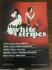 The WHITE STRIPES live in Japan 2003 flyer mini-poster MINT RARE Tokyo Osaka...