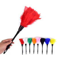 Home Office Keyboard Clean Anti Static Turkey Feather Duster Cleaner Brush  HQ