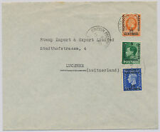 2028 MOROCCO AGENCIES 1938 British Issues: three different Kings on superb cover