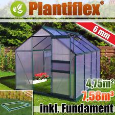 Gewächshaus mit Fundament Garten Pflanzenhaus Alu Treibhaus Tomatenhaus - 6mm