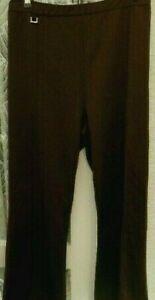 "( Ref 2656 ) Wardrobe Essentials - Size 30 W 50"" - Brown Straight Leg Trousers"
