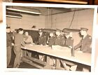 1940's military photograph officers at long table