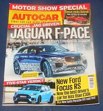 AUTOCAR 20TH JANUARY 2016 - JAGUAR F-PACE/NEW FORD FOCUS RS