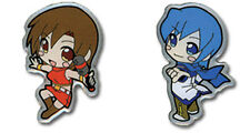 Vocaloid Meiko and Kaito 2 Pin Set Licensed Anime NEW