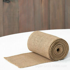 10ft*30cm Rustic Natural Vintage Burlap Hessian Table Runner High Quality