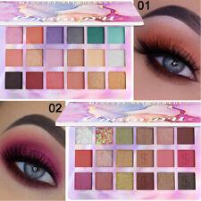 18 Colors Matte Shimmer Eyeshadow Palette Waterproof Shiny Sequins Eyes Makeup.