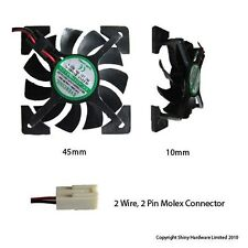 Evercool 45mm 4.5cm 45 x 45 x10mm 12 volt fan EC4510M12S-X 45mm