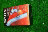 ANCIENNE CASSETTE CAMESCOPE VHS C SONY PREMIUM SP 30 MIN LP 60 MIN SOUS BLISTER