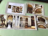 St Pauls Cathedral Royal mail set  postcard stamps card Ref 53350