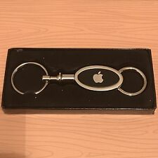 Rare Brand New Boxed Apple Computer Logo Oval Valet Keychain Ships Same Day