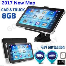 "2017 Newest 7"" 8GB  Truck Car GPS Navigation Lorry HGV Sat Nav FM UK EU Maps"