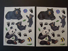 Creative Memorie Black Bear with Cubs - Panda   Stickers