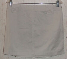 EXCELLENT WOMENS J.CREW CHINOS STONE SKIRT  SIZE 8