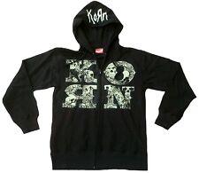BRAVADO Official KORN Merchandise SKULL and LETTER Kapuzen Zipper-Jacke HOODIE S