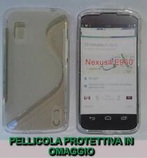 Pellicola+Custodia cover case WAVE CLEAR TRASPARENTE per LG Nexus 4 E960