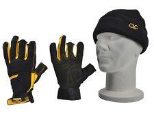 KUNYS CLC Flex Grip Finger Tip Free Dexterity Work Gloves, Beanie Hat,KUNFLGLOVE