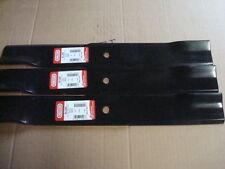 """3 Oregon blades replaces 54"""" HUSTLER  XR7 deck 601124, 18-1/2"""" long BIG DOG"""