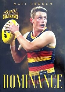 2020 AFL SELECT DOMINANCE MATT CROUCH ADELAIDE CROWS DOMINANCE CARD 29/60