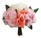 Peony Bouquets ~ MANY COLORS ~ Peonies Bridal Silk Wedding Flowers Centerpieces