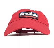 HAGERTY Youth Programs / Judging Red Baseball Cap Hat Adj Youth Size Cotton