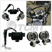 Motorcycle ATV Bike Audio System Handlebar FM Radio iPod Stereo MP3 2 Speakers