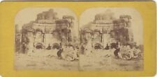 Baalbek Liban Lebanon Photo Barnum Photographer Stereo Vintage Albumine ca 1865