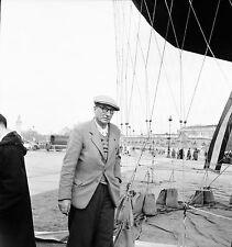 PARIS c. 1956 - Ballon Montgolfière Charles Dollfus - Négatif 6 x 6 - N6 P161