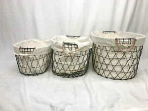 Dirty Clothes Laundry Storage Wire Oval Basket Washing Hapmer Double Layer