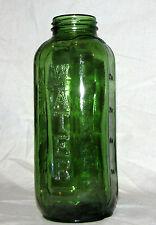 """Vintage Green Glass Bottle Embossed 40 oz Thatcher Mfg 1958 Elmira New York  9"""""""