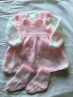 new hand knitted baby sets 0/3 Mths