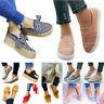 Women Casual Flat Platform Slip On Sneakers Comfort Plimsoll Loafers Shoes Pumps