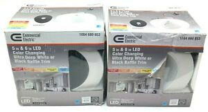 COMMERCIAL ELECTRIC 6 in LED Color Changing Ultra Deep Trim 53197301 (2-PACK)