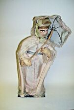 Antique Paper Mache Actor Theater Figure Male as Woman