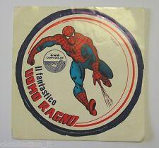 VECCHIO ADESIVO / Old Sticker UOMO RAGNO SPIDERMAN Campo del Re (cm 12) c