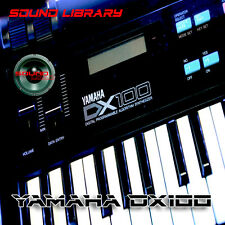 YAMAHA DX100 HUGE Original Factory & New Created Sound Library/Editors on CD