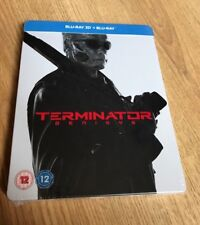 Terminator Genisys Blu Ray 3D + Blu Ray Steelbook New and Sealed