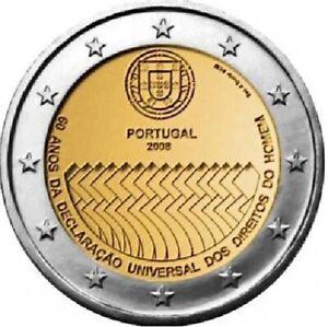 PORTUGAL 2 Euro Commémorative 2008 Droits de l'Homme UNC