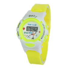 Boys Girls Students Time Electronic Digital Wrist Sport Watch Yellow