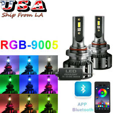 RGB Wireless 9005 9006 Super Bright LED High Low Beam Headlight Fog Light Bulbs