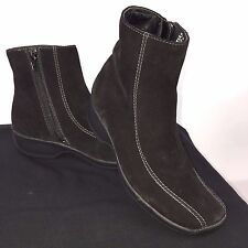 "Clarks 75171 Womens Size 6M Ashlyn Black Suede 7.5"" Tall Side Zipper Boots"